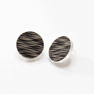 Braided-wooden ear studs 2